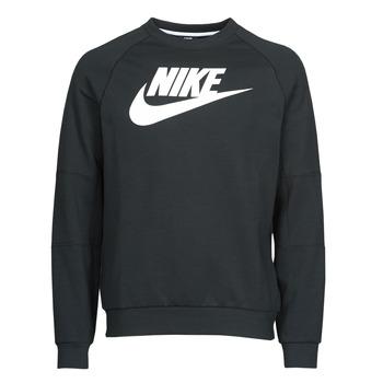 vaatteet Miehet Svetari Nike M NSW MODERN CRW FLC HBR Musta / Valkoinen