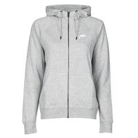 vaatteet Naiset Svetari Nike W NSW ESSNTL HOODIE FZ FLC Grey