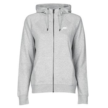 vaatteet Naiset Svetari Nike W NSW ESSNTL HOODIE FZ FLC Harmaa