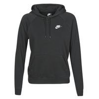 vaatteet Naiset Svetari Nike W NSW ESSNTL HOODIE PO FLC Black