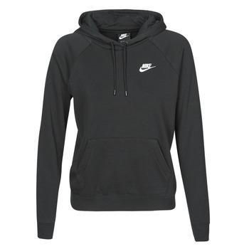 vaatteet Naiset Svetari Nike W NSW ESSNTL HOODIE PO FLC Musta