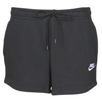 vaatteet Naiset Shortsit / Bermuda-shortsit Nike W NSW ESSNTL SHORT FT Black