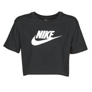 vaatteet Naiset Lyhythihainen t-paita Nike W NSW TEE ESSNTL CRP ICN FTR Black