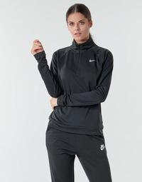 vaatteet Naiset T-paidat pitkillä hihoilla Nike W NK PACER HZ Musta