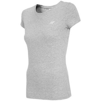 vaatteet Naiset Lyhythihainen t-paita 4F TSD001 Harmaat