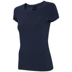 vaatteet Naiset Lyhythihainen t-paita 4F TSD001 Tummansininen