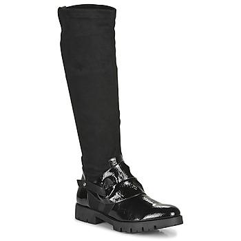kengät Naiset Saappaat Regard CANET V1 VERNIS NOIR Black