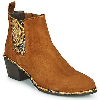 kengät Naiset Nilkkurit Regard NOISY V2 VELOURS SAFRAN Brown