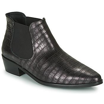 kengät Naiset Bootsit Fericelli NANARUM Musta / Hopea