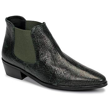 kengät Naiset Bootsit Fericelli NANARUM Musta / Vihreä