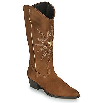 kengät Naiset Saappaat Fericelli NISCOME Camel / Kulta