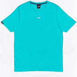 vaatteet Pojat Lyhythihainen t-paita Wrung T-shirt  Caution Reload bleu turquoise/bleu