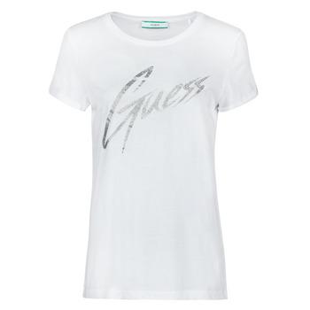 vaatteet Naiset Lyhythihainen t-paita Guess SS CN IVONNE TEE Valkoinen