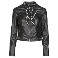 vaatteet Naiset Nahkatakit / Tekonahkatakit Guess NEW JONE JACKET Black