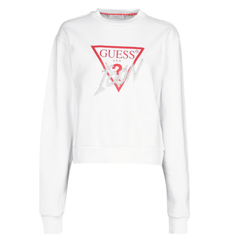 vaatteet Naiset Svetari Guess ICON FLEECE White