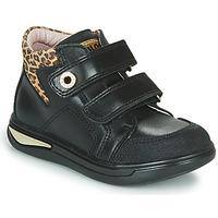 kengät Tytöt Korkeavartiset tennarit Pablosky 490611 Black / Leopardi