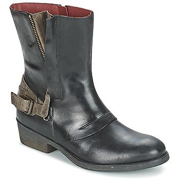 kengät Naiset Bootsit Kickers AMERIKO Black / Grey