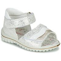 kengät Tytöt Sandaalit ja avokkaat Primigi  White / Hopea