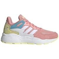 kengät Tytöt Matalavartiset tennarit adidas Originals Crazychaos J Valkoiset, Beesit, Vaaleanpunaiset