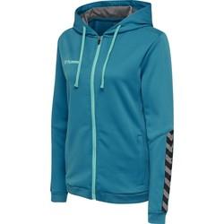 vaatteet Naiset Svetari Hummel Sweatshirt femme  zip hmlAUTHENTIC Poly bleu