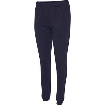vaatteet Naiset Verryttelyhousut Hummel Pantalon femme  hmlgo cotton bleu marine