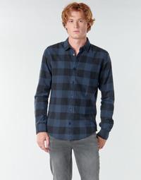 vaatteet Miehet Pitkähihainen paitapusero Only & Sons ONSGUDMUND Laivastonsininen / Black