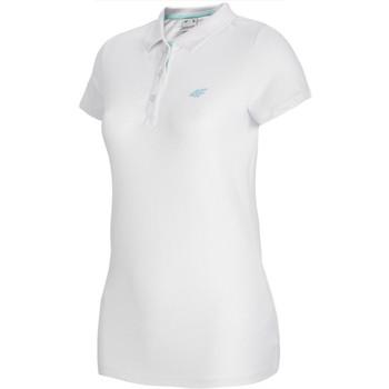 vaatteet Naiset Lyhythihainen poolopaita 4F Women's T-shirt Polo Blanc