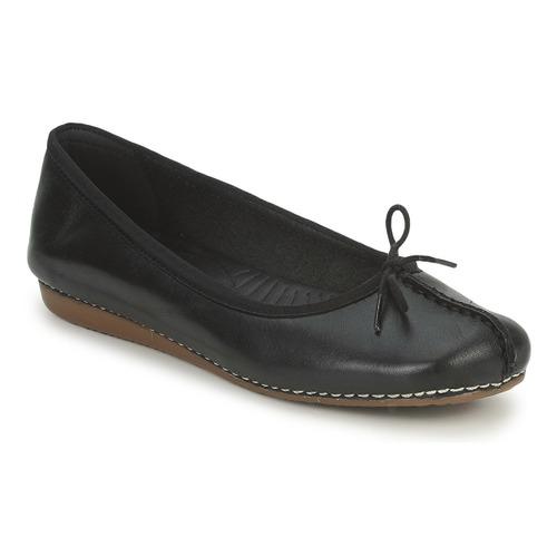 kengät Naiset Balleriinat Clarks FRECKLE ICE Black