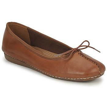 kengät Naiset Balleriinat Clarks FRECKLE ICE Brown