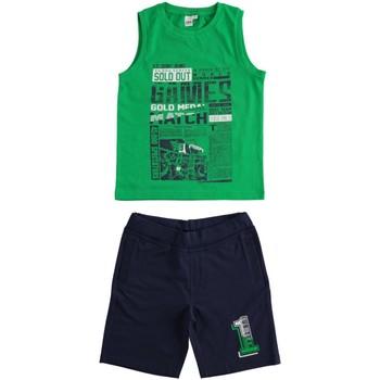 vaatteet Pojat kokonaisuus Ido 4J019 Verde/blu
