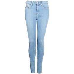 vaatteet Naiset Skinny-farkut Calvin Klein Jeans  Sininen
