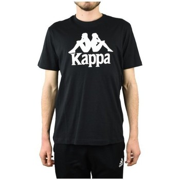 vaatteet Miehet Lyhythihainen t-paita Kappa Caspar Tshirt Mustat
