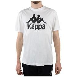 vaatteet Miehet Lyhythihainen t-paita Kappa Caspar Tshirt Valkoiset