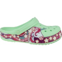 kengät Lapset Varvassandaalit Crocs Fun Lab Unicorn Band Clog Vihreät,Vaaleanpunaiset