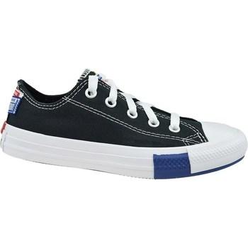 kengät Lapset Matalavartiset tennarit Converse Chuck Taylor All Star JR Valkoiset, Mustat