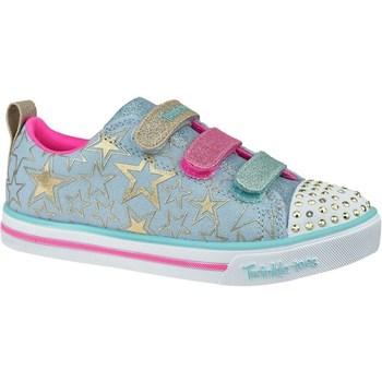 kengät Lapset Matalavartiset tennarit Skechers Sparkle Litestars The Limit Vaaleansiniset, Vaaleanpunaiset