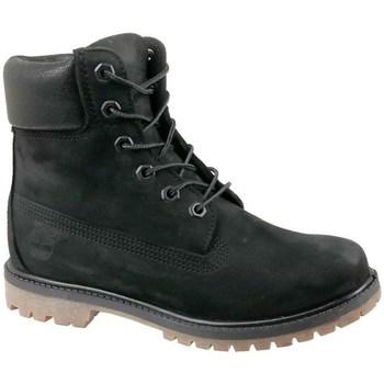 kengät Naiset Korkeavartiset tennarit Timberland 6 IN Premium Boot W Mustat