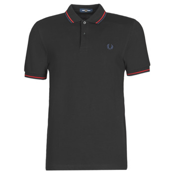 vaatteet Miehet Lyhythihainen poolopaita Fred Perry TWIN TIPPED FRED PERRY SHIRT Musta