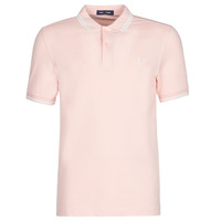 vaatteet Miehet Lyhythihainen poolopaita Fred Perry TWIN TIPPED FRED PERRY SHIRT Pink