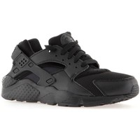 kengät Pojat Juoksukengät / Trail-kengät Nike Huarache Run GS Mustat