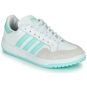 kengät Matalavartiset tennarit adidas Originals TEAM COURT W White / Turkoosi