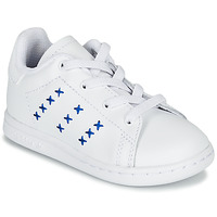 kengät Lapset Matalavartiset tennarit adidas Originals STAN SMITH EL I White