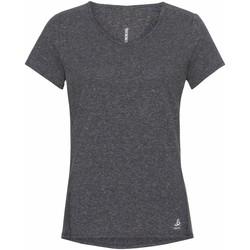 vaatteet Naiset Lyhythihainen t-paita Odlo T-shirt femme  Lou Linencool gris