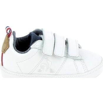 kengät Lapset Matalavartiset tennarit Le Coq Sportif Courtclassic BB Blanc Marron Valkoinen