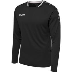 vaatteet Miehet T-paidat pitkillä hihoilla Hummel Maillot  manches longues hmlAUTHENTIC Poly noir/blanc
