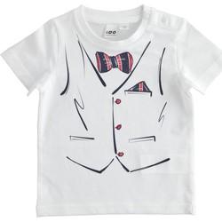vaatteet Pojat Lyhythihainen t-paita Ido 4J692 Bianco