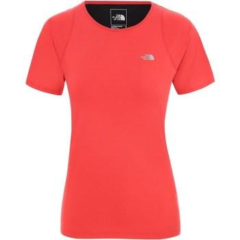 vaatteet Naiset Lyhythihainen t-paita The North Face Ambition Punainen