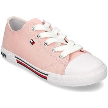 kengät Tytöt Matalavartiset tennarit Tommy Hilfiger T3A4306050890302 Vaaleanpunaiset