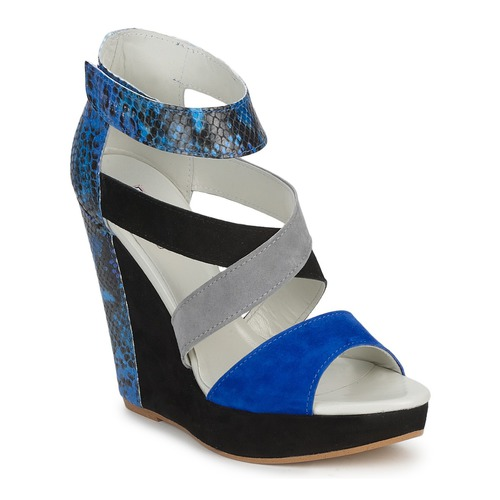 kengät Naiset Sandaalit ja avokkaat Serafini CARRY Black / Blue / Grey