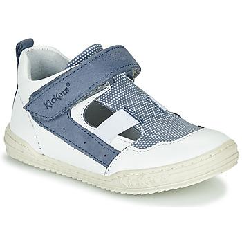 kengät Pojat Sandaalit ja avokkaat Kickers JASON White / Blue